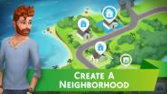 The Sims Mobile screenshot 1 'Create a Neighborhood'.png