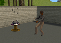Alex Haider slap dancing in front of stereo.png